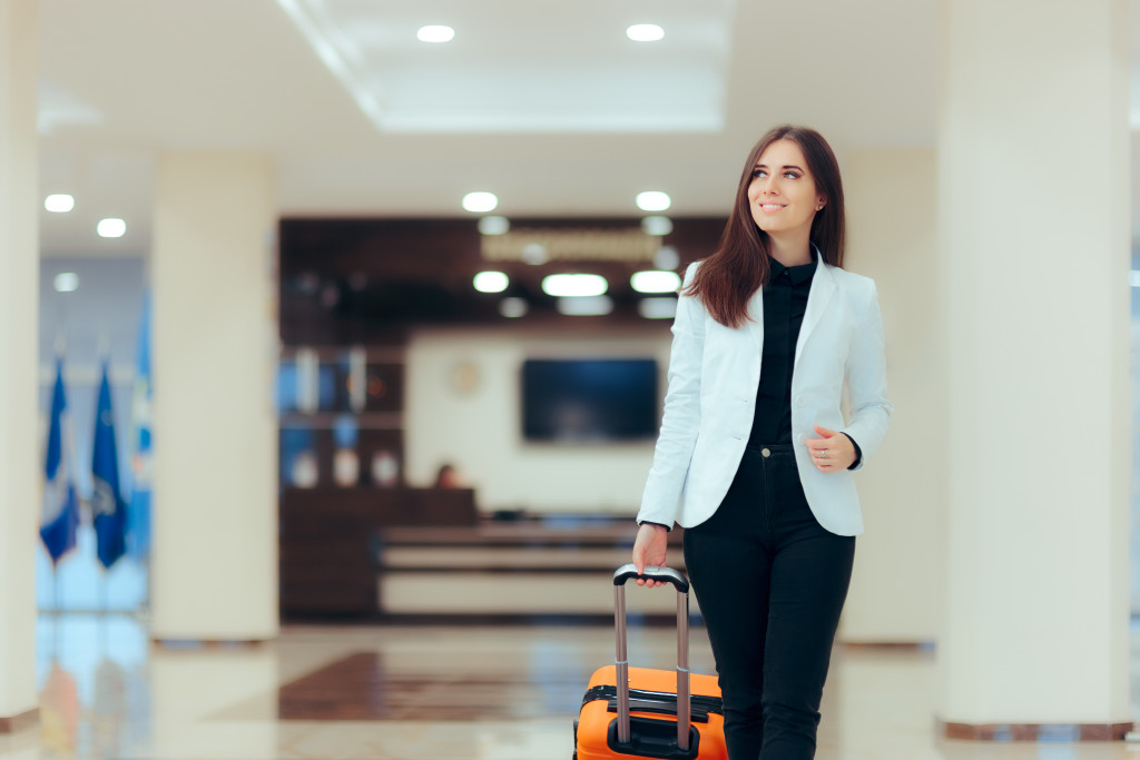 Female in the airport